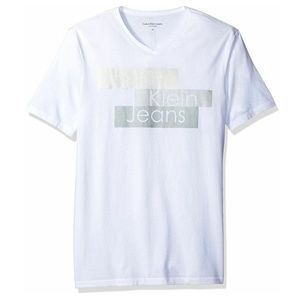 CALVIN KLEIN JEANS Logo T-Shirt Metallic Tee White